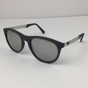 New Emporio Armani Gray/Silver Men Sunglasses